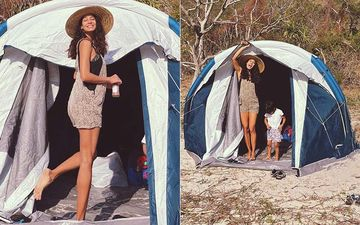 After Announcing Her 3rd Pregnancy Lisa Haydon Goes Camping With Family To Celebrate Valentine's Day