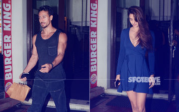 Lovebirds Tiger Shroff & Disha Patani Head Out For Romantic Dinner Date