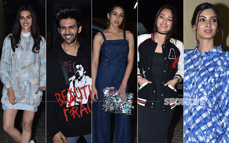 Luka Chuppi Screening: Sara Ali Khan, Ananya Pandey, Sonakshi Sinha Were Amongst The Attendees