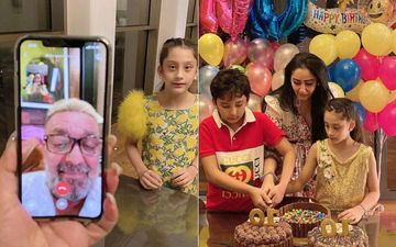 Sanjay Dutt Joins His Kids Iqra And Shahraan's 10th Birthday Celebration On Video Call, Maanayata Dutt Shares Glimpses From The Bash- INSIDE PICS