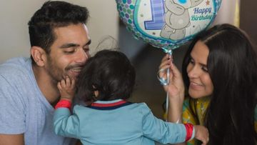 Neha Dhupia And Angad Bedi Wish Their Little Munchkin Mehr On Her First Birthday; Pen Heartwarming Posts