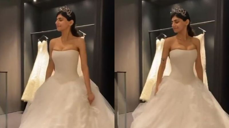 Former Porn Star Mia Khalifa Tries Being 'Extra' As She Gives Fans A Glimpse Of Her Wedding Gown – VIDEO
