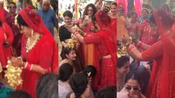 INSIDE VIDEOS: Mona Singh Exudes Swag At Her Chooda Ceremony And Her Post-Wedding Dance With Hubby Shyam