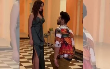 Did Paras Chhabra Just Go Down On His Knees To Propose Mahira Sharma? This BTS Video Captures Their Romance - WATCH