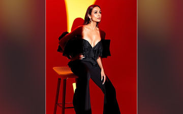 Malaika Arora Dares To Bare In A Bold Off-Shoulder Black Pantsuit!