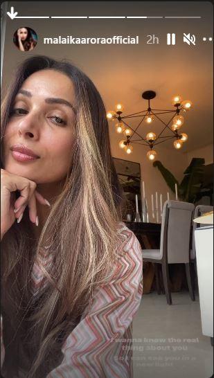 Malaika Aroras Instagram stories