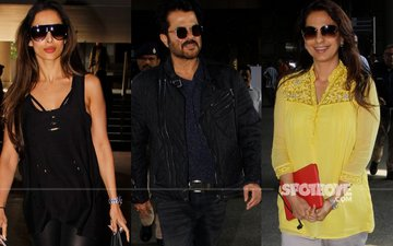 Malaika Arora Khan, Anil Kapoor and Juhi Chawla spotted at the airport