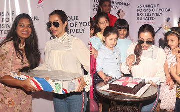Malaika Arora Launches DivaYoga; Cuts Cake With Little Ones