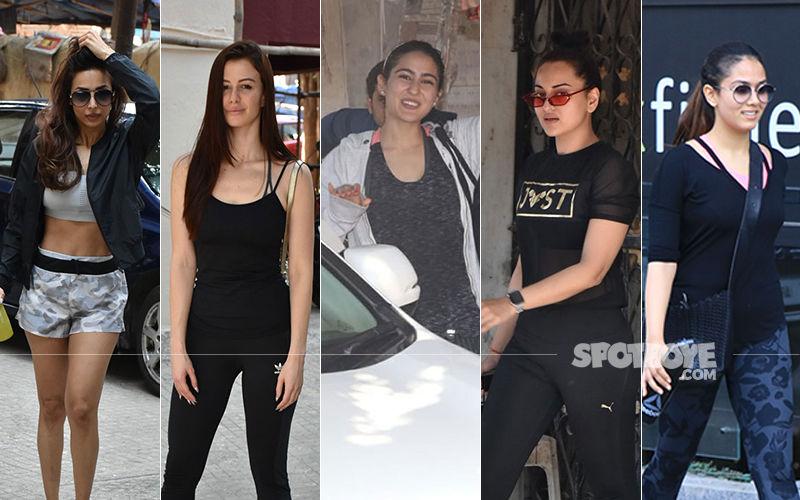 Malaika Arora, Giorgia Andriani, Mira Rajput, Sara Ali Khan, Sonakshi Sinha Hit The Gym In Full Style