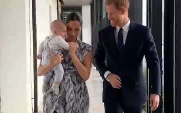 Meghan Markle And Prince Harry's Baby Archie Makes His First Royal Appearance On Their Africa Tour, Video Goes Viral