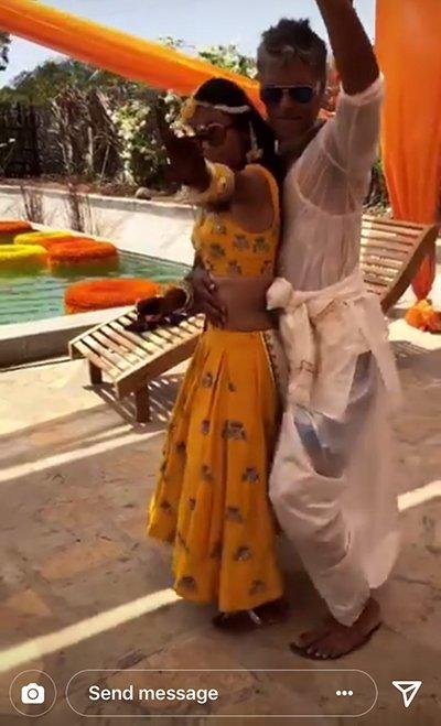 Milind Soman With Ankita Konwar