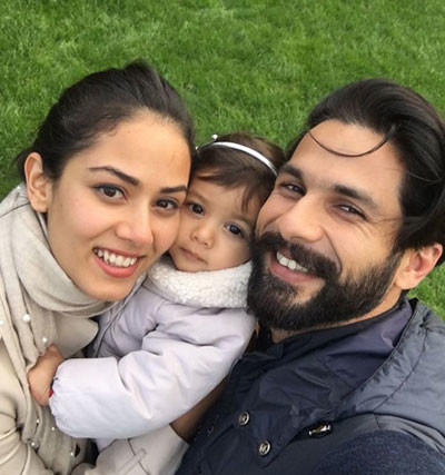 Mira Rajput And Shahid Kapoor With Misha