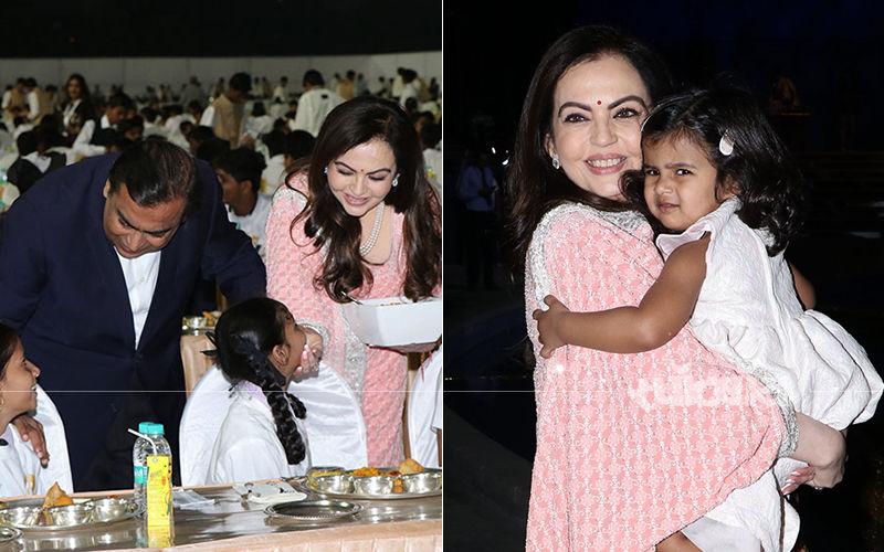 बेटे की शादी से पहले मुकेश और नीता अंबानी ने शुरू की अन्ना सेवा, 2000 से अधिक सुविधाओं से वंचित बच्चों को खिलाया खाना