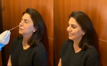 Neetu Kapoor Undergoes The Swab Test With Absolute Grace; Happily Exclaims 'It's Fab' After Getting Done - VIDEO