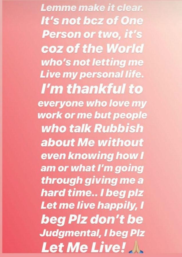 neha kakkar instagram story