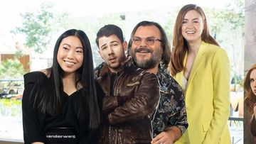 Nick Jonas Joins Karen Gillan, Awkwafina And Jack Black For The Jumanji Press Tour, But There's A BIG Catch