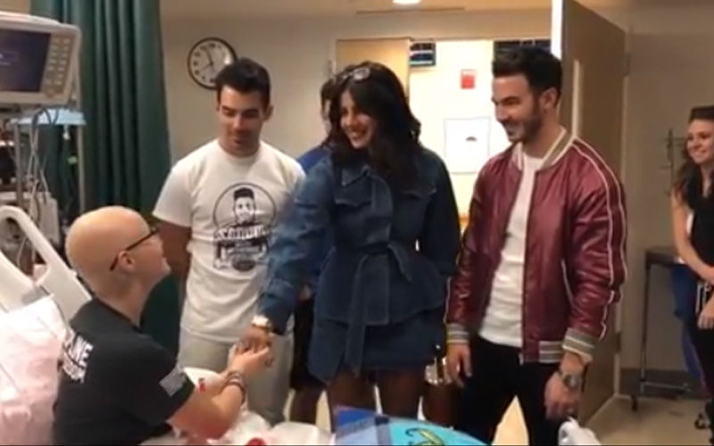 Priyanka Chopra And Jonas Brothers Meet A Fan In A Hospital, Make Her Day: Watch video