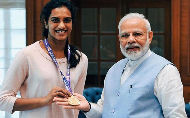 PM Narendra Modi Meets And Congratulates World Badminton Champion PV Sindhu; Calls Her India's Pride