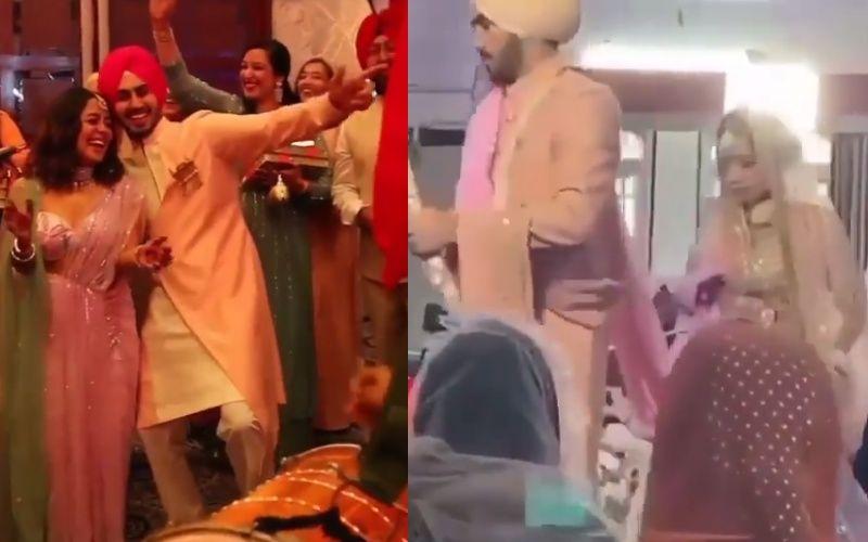 NehuDaVyah: Neha Kakkar And Rohanpreet Singh Take Pheras And Get Hitched In A Gurudwara; Mr And Mrs Look Splendid In Pink Outfits - WATCH Inside Video