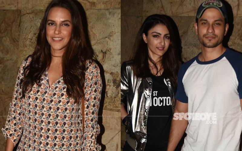 Neha Dhupia, Soha Ali Khan and Vir Das attend 31 st October Screening