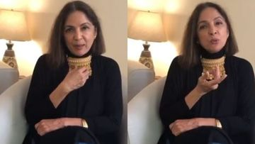 Coronavirus Lockdown: A Super-Bored Neena Gupta Flaunts Gold Necklace, 'Don't Think I Am Mad' – VIDEO