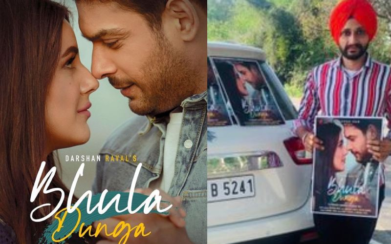 Bhula Dunga Song: Promotions Of Sidharth Shukla And Shehnaaz Gill's Track Begin; SidNaaz Shippers Put Up Posters
