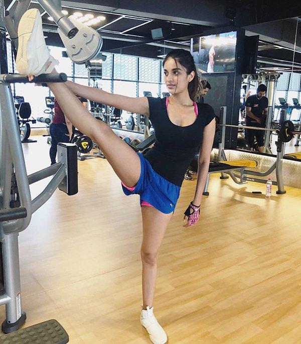 Niddhi Agerwal At Gym