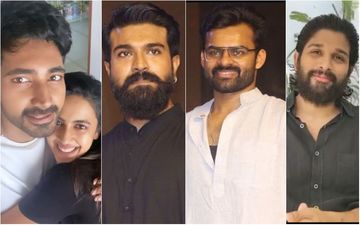 After Rana Daggubati And Miheeka's Wedding; Ram Charan, Allu Arjun, Sai Dharam Tej Attend Niharika Konidela's Engagement - See Pics