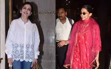 Deepika Padukone And Nita Ambani Show Concern For Paparazzi; Internet Applauds - Watch Videos