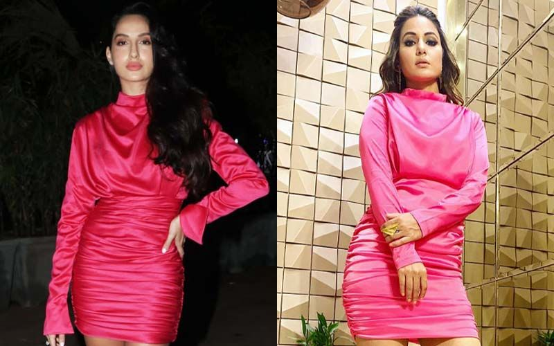 Hina Khan's Neon Pink Dress Aped By Nora Fatehi- Same Pinch, Ladies!