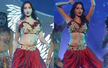 Nora Fatehi Looks Red Hot As She Shakes Her Belly On Dance Plus 4 Finale