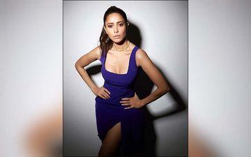 Nushrratt Bharuccha Looks Drop Dead Gorgeous In This Purple Slight Dress