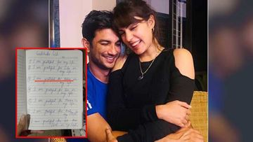 Sushant Singh Rajput Death Case: Fans Question Late Actor's Handwriting On The Gratitude List Shared By GF Rhea Chakraborty