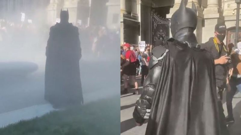 George Floyd Death: Batman Makes A Filmy Entry At Protests, The Internet Can't Get Over It; Calls It 'Dark Knight Rises'- VIDEO