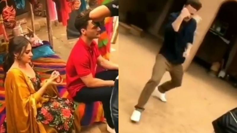 Asim Riaz Gets Goofy On The Sets Of His Upcoming Song As GF Himanshi Khurana Watches; Was It Shot Amid Lockdown? - BTS VIDEO