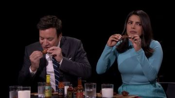 Priyanka Chopra And Jimmy Fallon Hog On The Spiciest Chicken Wings; What Happens Next Will Leave You In Both Splits And Fear