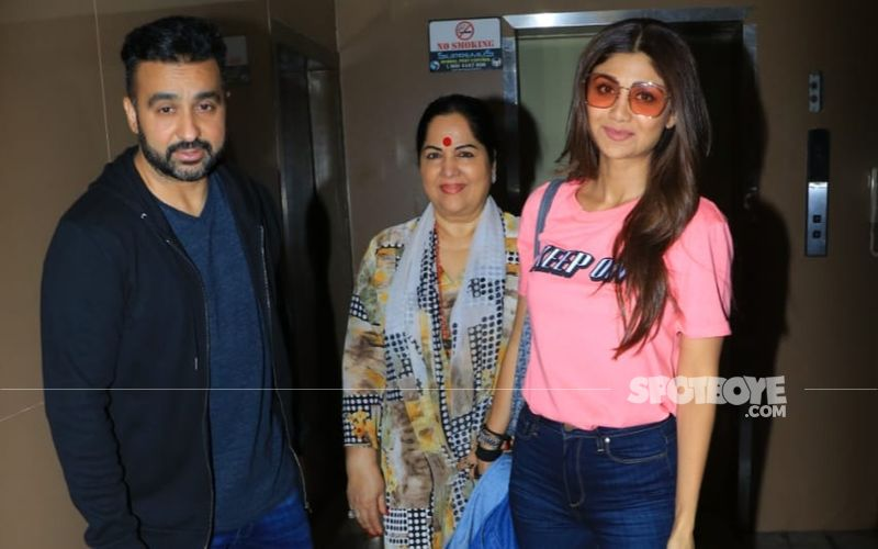 Shilpa Shetty Kundra Spotted With Hubby Raj Kundra and Her Mom At A Movie Date