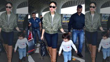 Kareena Kapoor Khan Drops Taimur Ali Khan On The Sets Of Papa Saif Ali Khan's Upcoming Show Tandav And We Know Why