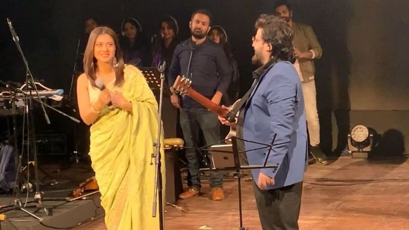 9XM On Stage With Pritam: Kajol Graces The Stage, Shakes A Leg As Pritam Enthralls Fans By Singing Gerua