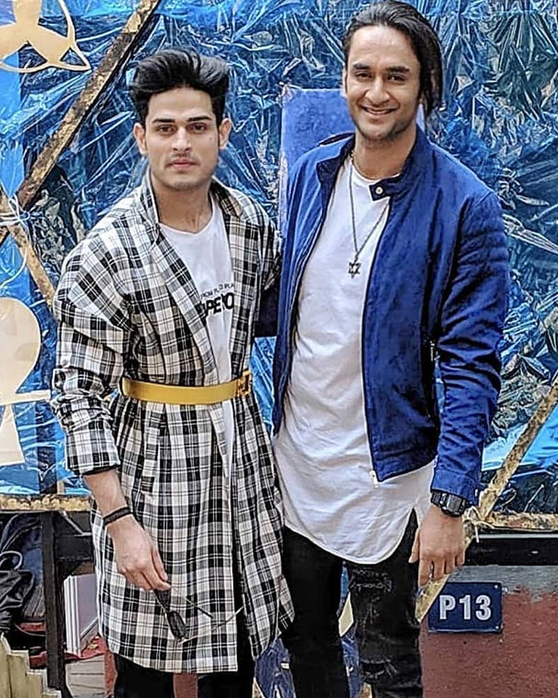 Priyank Sharma With Vikas Gupta