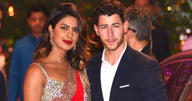 Priyanka And Nick jonas PosingiIn A Traditional Look