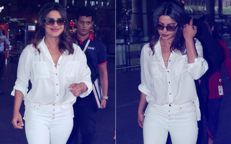 Vision In White: Priyanka Chopra Makes A Stylish Return To Mumbai