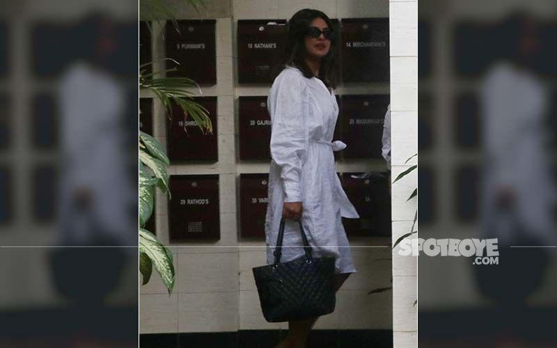 Priyanka Chopra's White Outfit Looks Like A Plain Bathrobe And We Ain't Impressed!