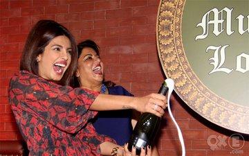 Priyanka At Her Brothers Lounge Opening