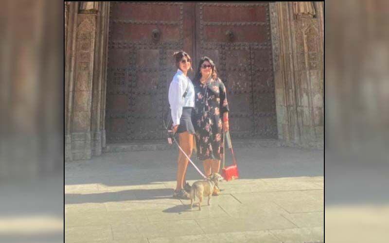 Priyanka Chopra Goes Sightseeing In Spain With Mom Madhu Chopra And Her Dog Diana-SEE Pics