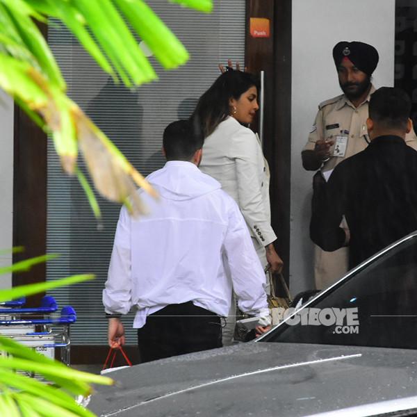 Priyanka Chopra And Nick Jonas Depart For Goa