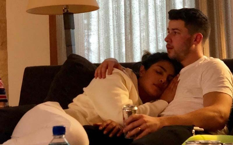 Internet Goes Berserk Asking, 'Who Clicked Priyanka Chopra Sleeping In Nick Jonas' Arms?' Actress Lets Out The Suspense