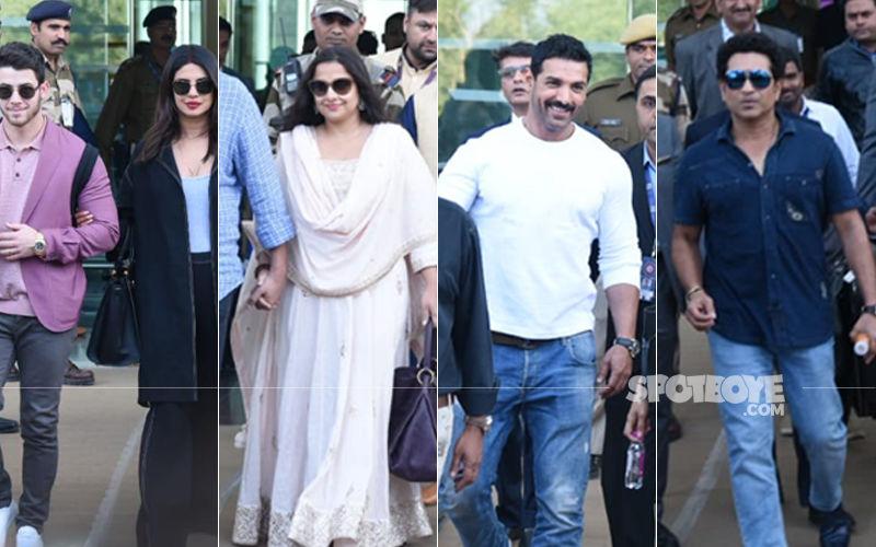 Priyanka Chopra, Nick Jonas, Vidya Balan, John Abraham, Sachin Tendulkar Arrive For Isha Ambani's Pre-Wedding Festivities
