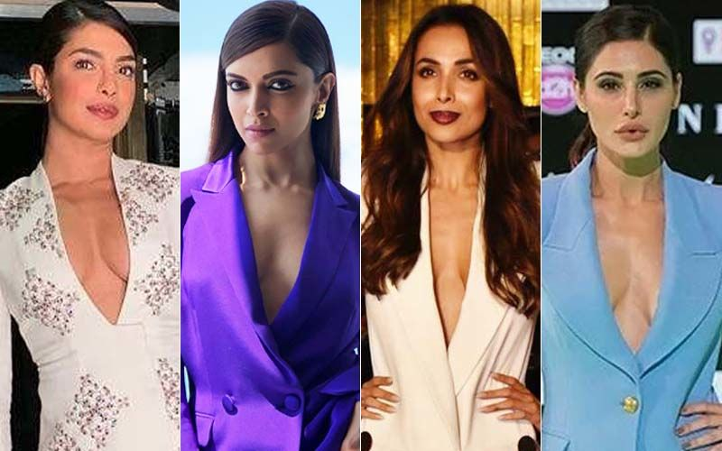 Drop The Shirt, Flaunt The Bold Neckline: Priyanka Chopra, Deepika Padukone, Malaika Arora And Nargis Fakhri Show You How!