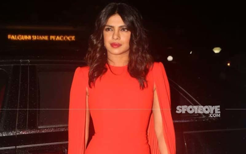 Priyanka Chopra Shares A BTS Pic As She Gets Prepped For Citadel Shoot; Flaunts Golden Facial Mask And Asks Fans To Caption It